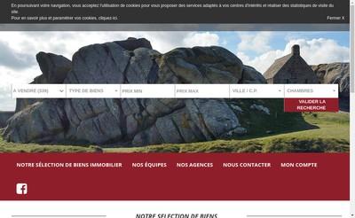Site internet de Habasque Immobilier