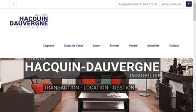 Site internet de Hacquin Dauvergne