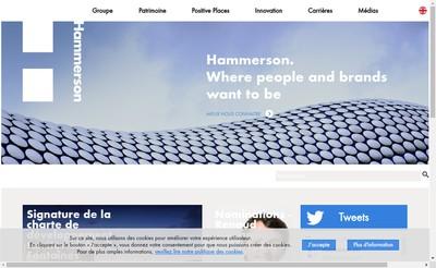 Site internet de Hammerson