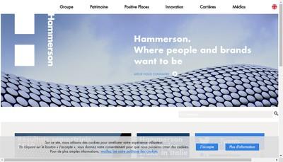 Site internet de Hammerson Marketing & Communication