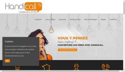 Site internet de Handicall Communication