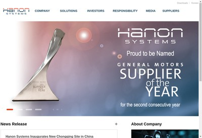 Site internet de Hanon Systems Charleville
