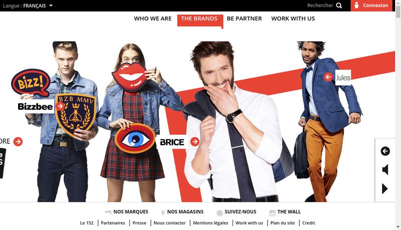 Capture d'écran du site de Happy Chic
