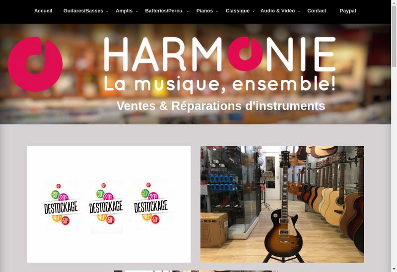 Capture d'écran du site de Pascal Musique