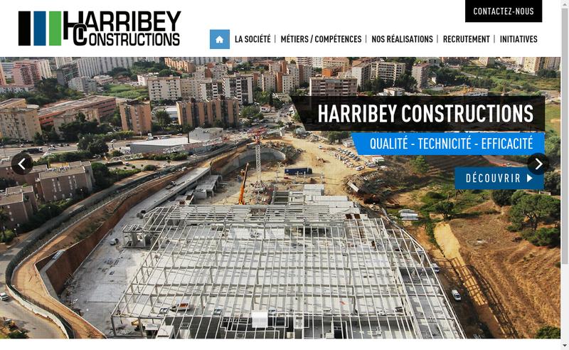 Capture d'écran du site de Harribey Constructions