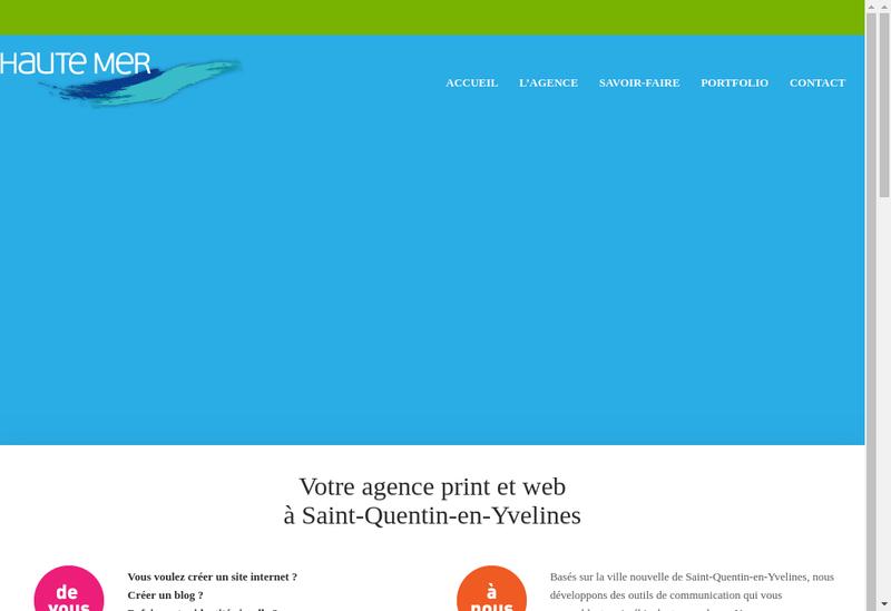 Capture d'écran du site de Haute Mer