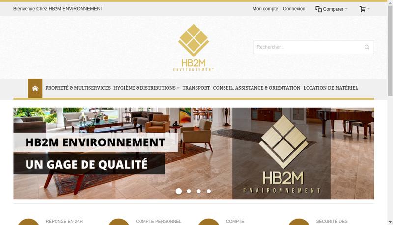 Capture d'écran du site de Hb2M Environnement Proprete & Multiservices
