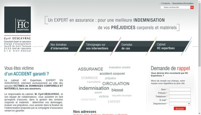 Site internet de HC Expertises