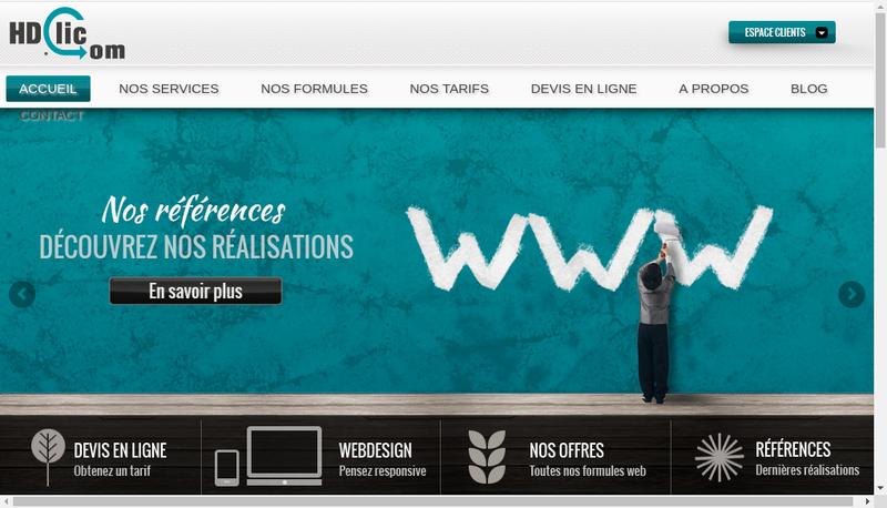 Capture d'écran du site de HD Clic