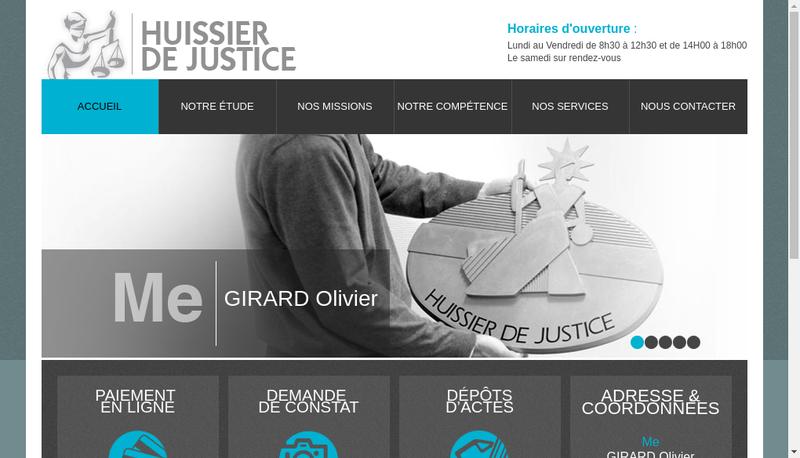 Capture d'écran du site de Olivier Girard