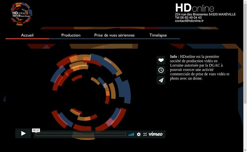 Capture d'écran du site de Hd Online