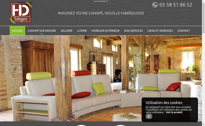 Capture d'écran du site de HD Sieges