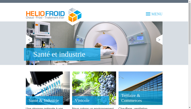 Capture d'écran du site de Helio Froid