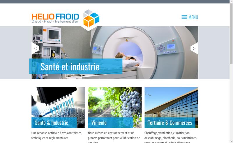 Site internet de Helio Froid