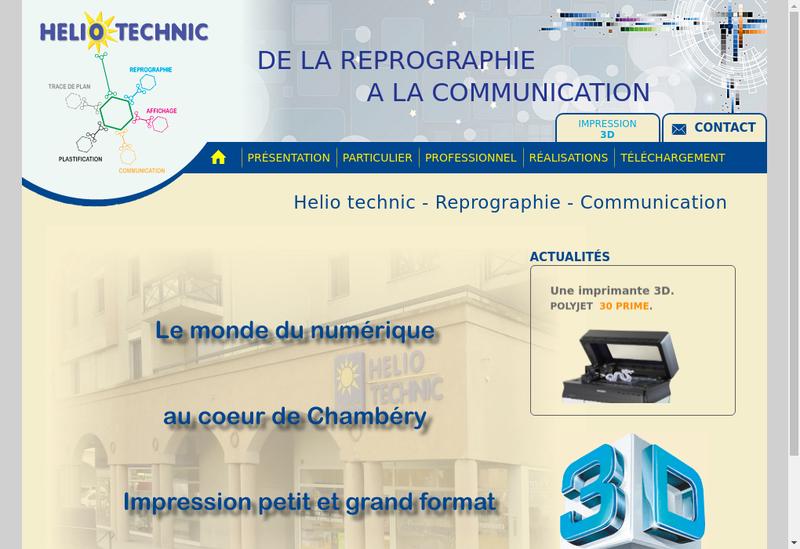 Capture d'écran du site de Helio Technic