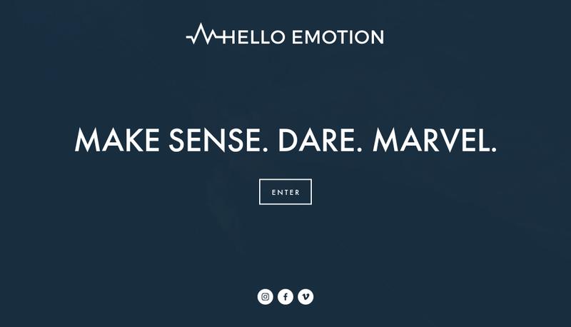 Capture d'écran du site de Hello Emotion