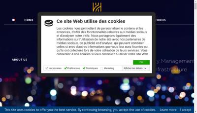 Capture d'écran du site de Hent Consulting