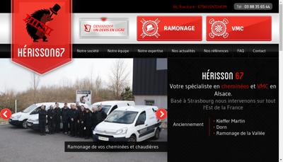 Capture d'écran du site de Herisson 67