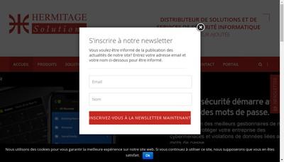 Site internet de Hermitage Soutions