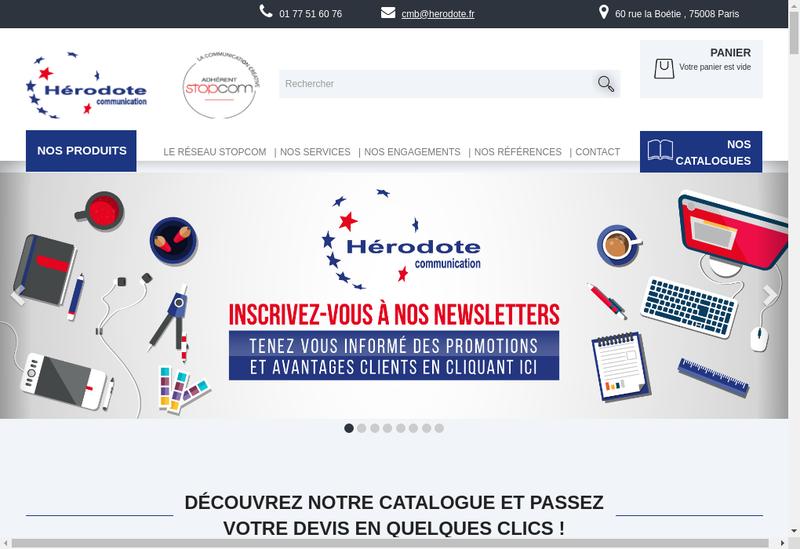 Capture d'écran du site de Herodote