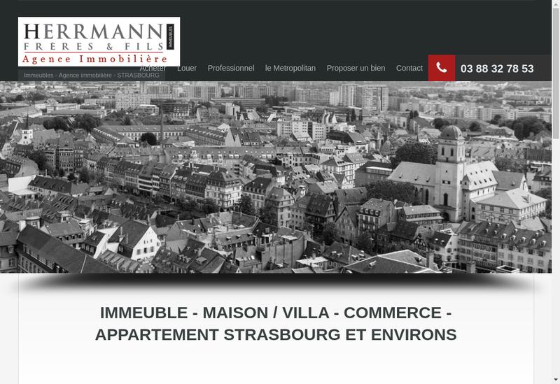 Capture d'écran du site de Herrmann Freres