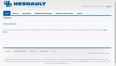 Site internet de Hesnault