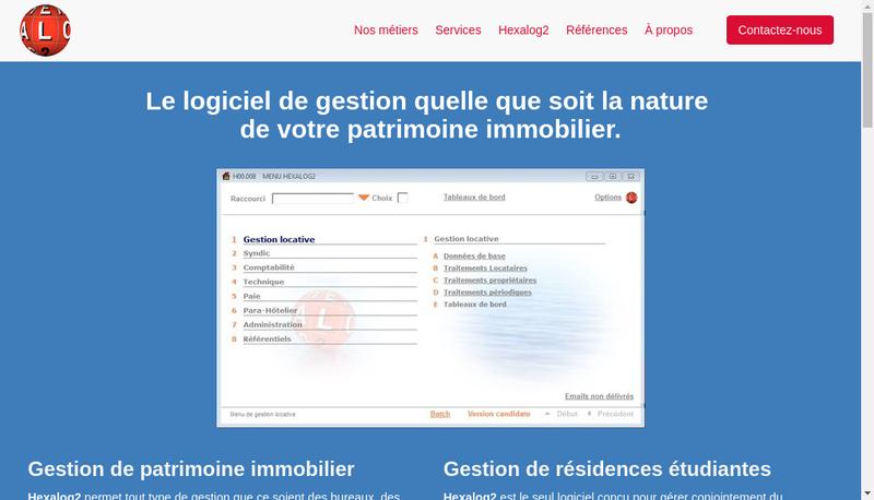 Capture d'écran du site de Hexalog