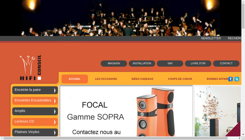 Capture d'écran du site de Hi-Fi Conseil