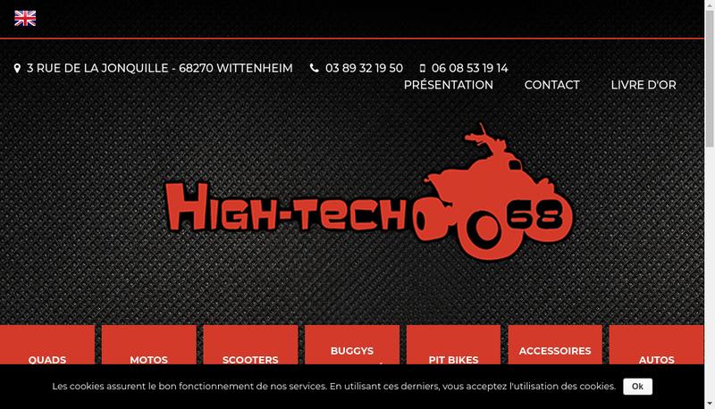 Capture d'écran du site de High Tech 68