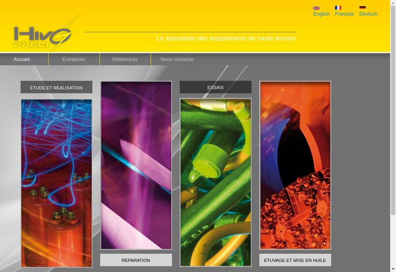 Capture d'écran du site de Hivopreci
