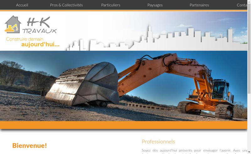 Capture d'écran du site de Hk Travaux