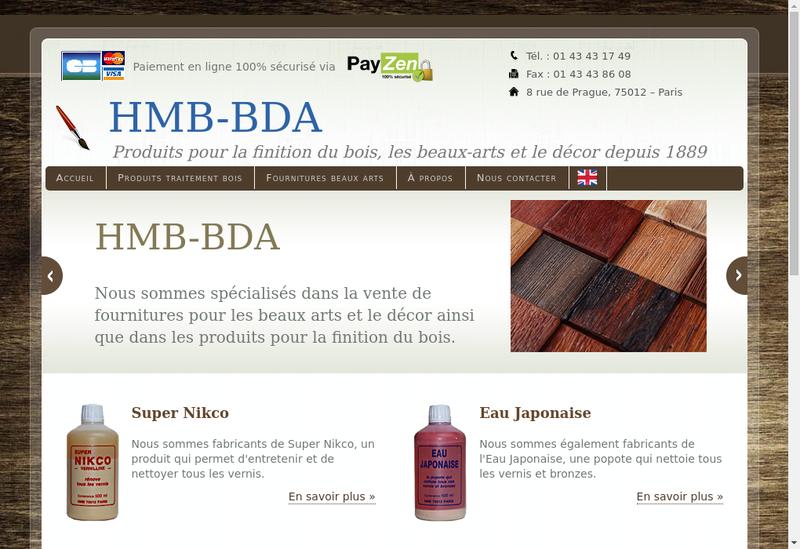 Capture d'écran du site de Hmb Bda