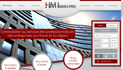 Capture d'écran du site de Hm Immo Pro