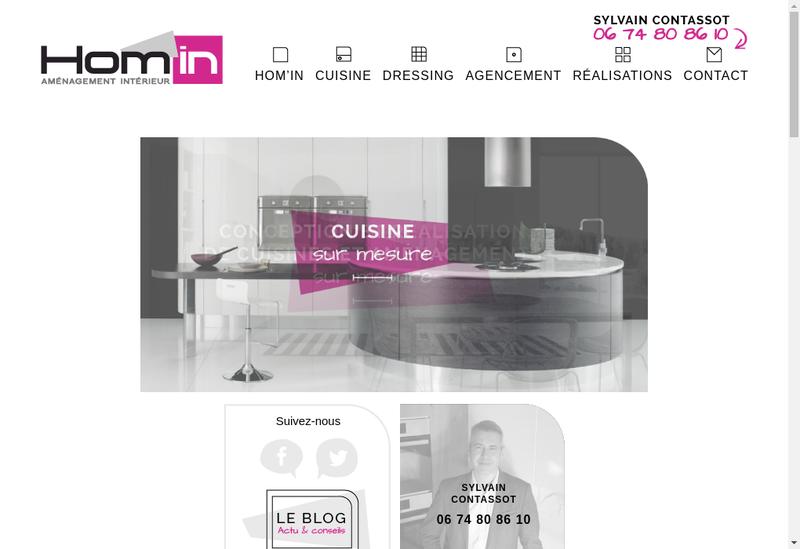 Capture d'écran du site de Hom'In