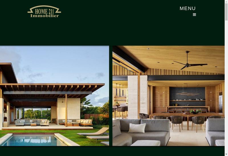 Capture d'écran du site de Home 21 Immobilier