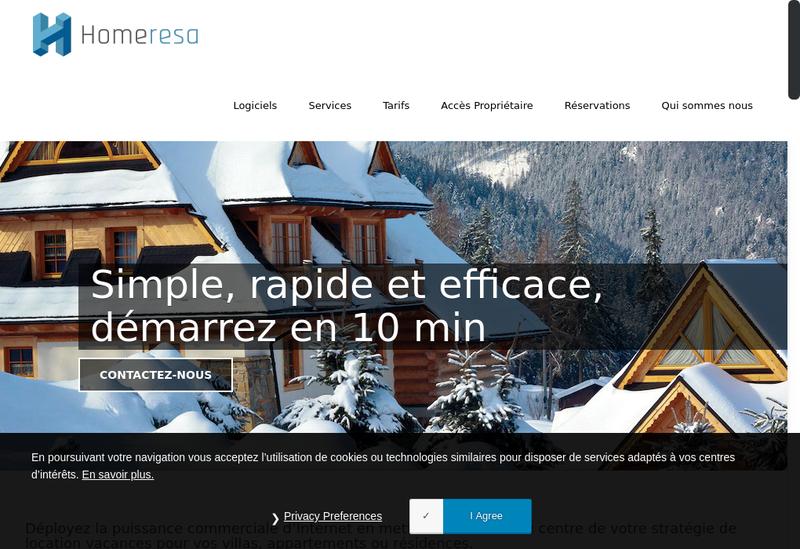 Capture d'écran du site de Homeresa
