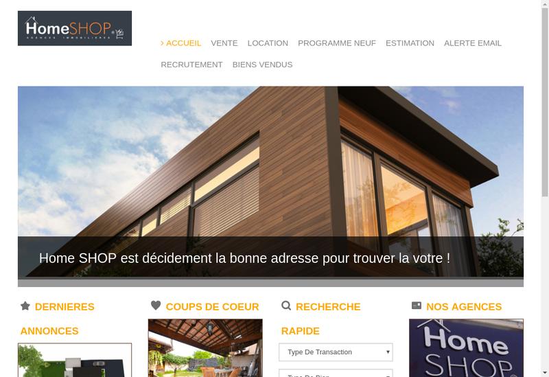 Capture d'écran du site de Home Shop