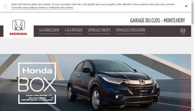 Capture d'écran du site de Garage du Clos
