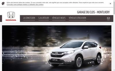 Site internet de Garage du Clos