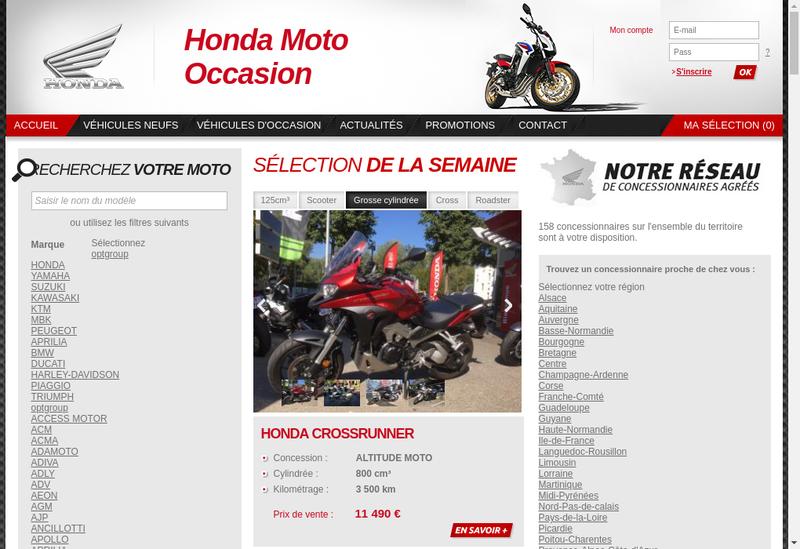 Capture d'écran du site de Rc Moto
