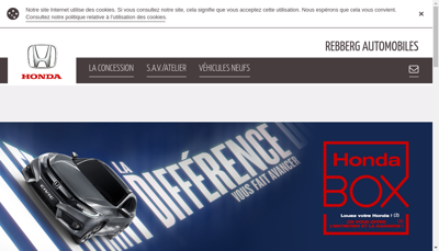 Capture d'écran du site de Rebberg Automobiles