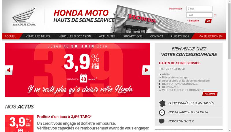 Capture d'écran du site de Hauts de Seine Service
