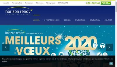 Site internet de Horizon Renov' 28