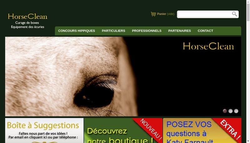 Capture d'écran du site de Horse Clean