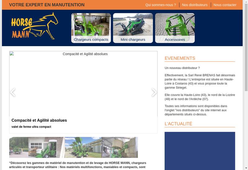 Capture d'écran du site de Horse Mann
