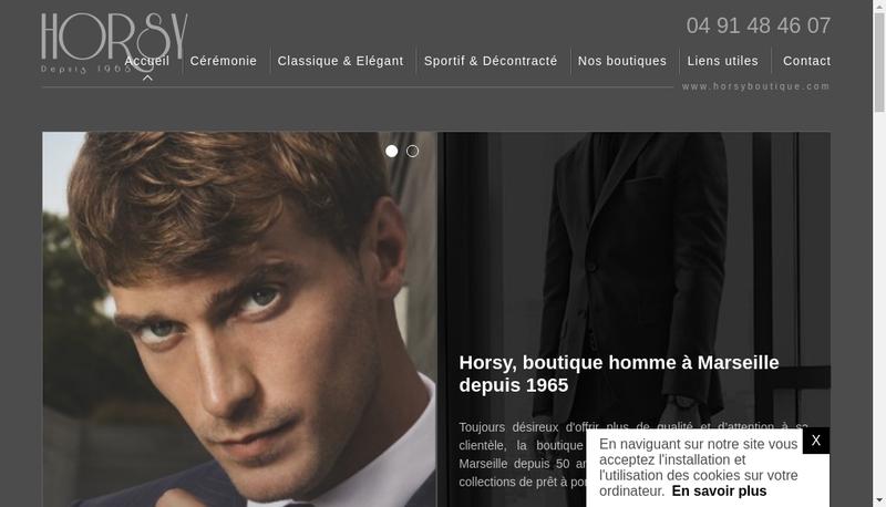 Capture d'écran du site de Horsy