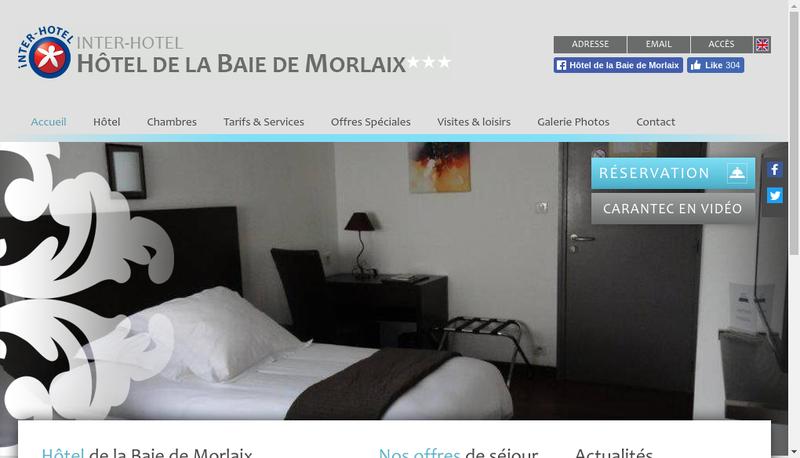 Capture d'écran du site de Hotel de la Baie de Morlaix