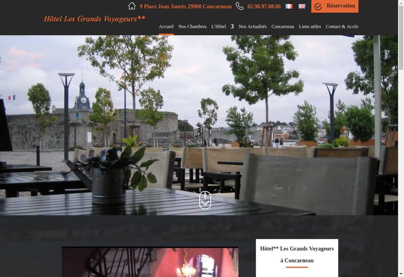 Capture d'écran du site de Hotel les Grands Voyageurs