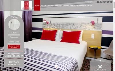 Site internet de Hotel de France