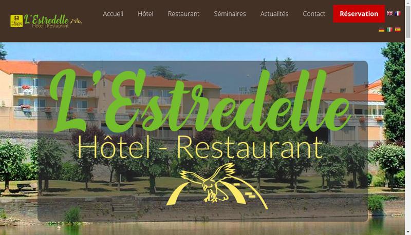 Capture d'écran du site de L'Estredelle